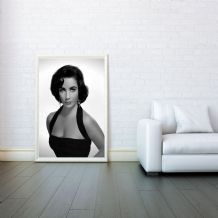 Elizabeth Taylor, Hollywood's Golden Age Poster, Prints & Posters, Wall Art Print, Poster Any Size - Poster